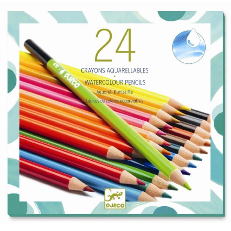 DJECO Akvarelfarveblyanter 24 stk Multi 1