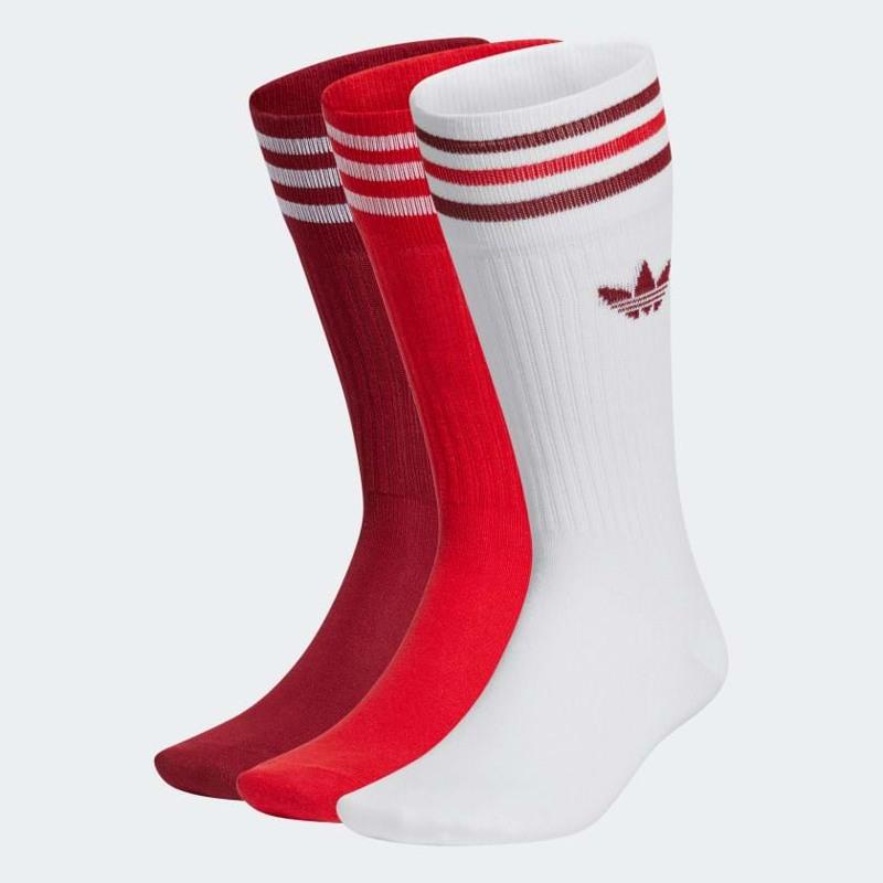 Adidas Originals Strømper Crew 3-pak 35-38 Rød/Hvid 1