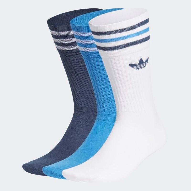 Adidas Originals Strømper Crew 3-pak 35-38 Blå/hvid 1