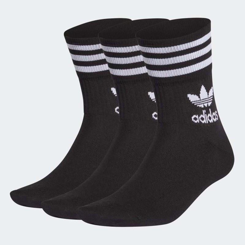 Adidas Originals Strømper Mid Crew 3-pak 39-42 Sort 1