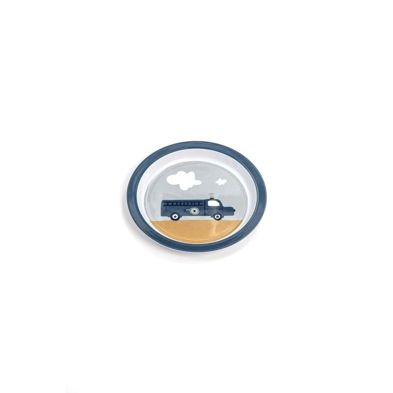 Smallstuff Tallerken Auto Blå 1