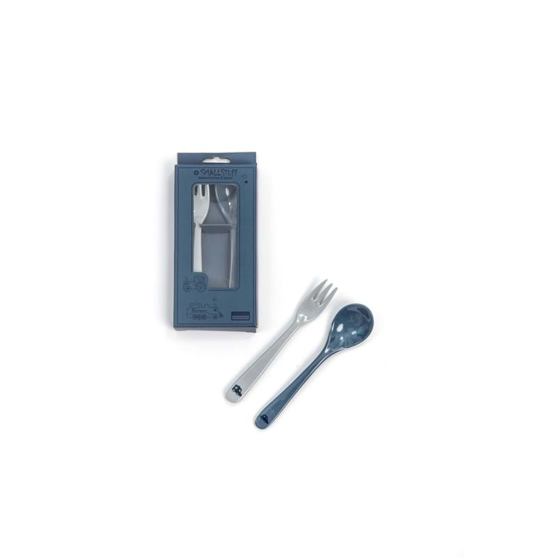 Smallstuff Ske og gaffel Auto Blå 1