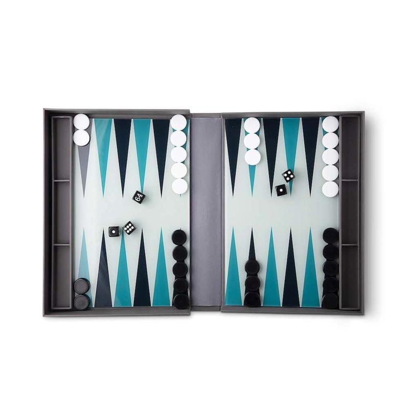 Printworks Backgammon Classic Grå/Sort 2