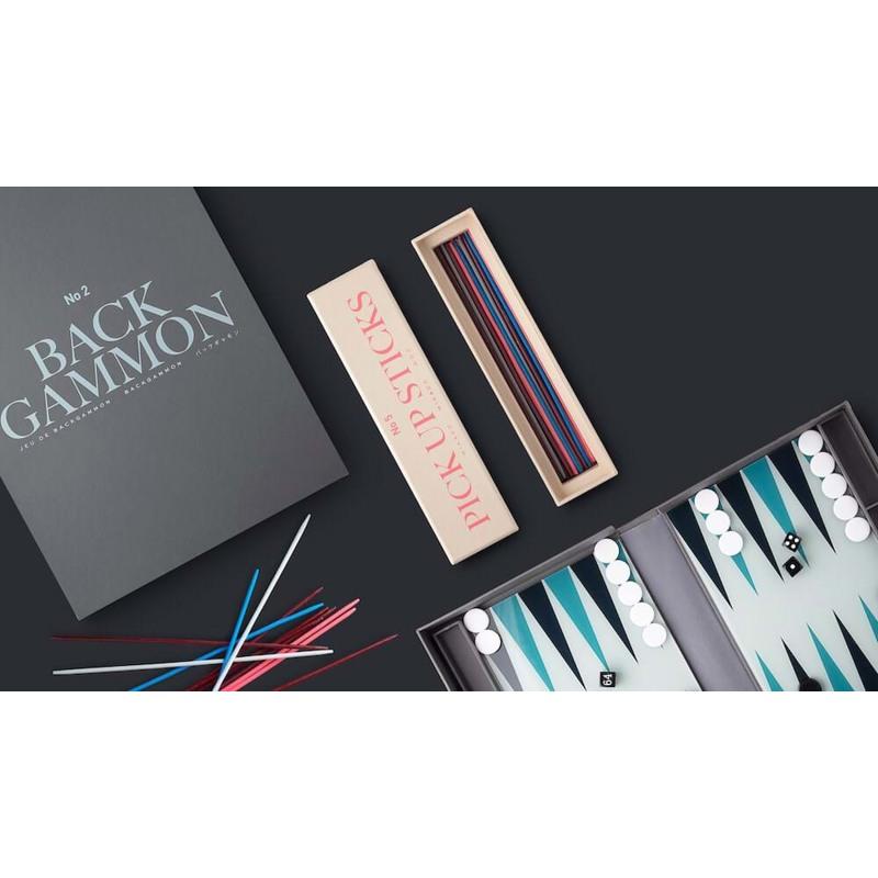 Printworks Backgammon Classic Grå/Sort 6