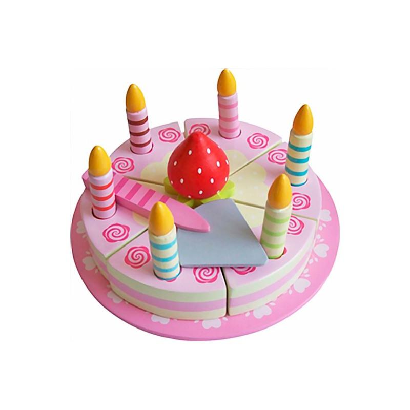 Magni Pink kage m. velcro og pynt i  Pink 1