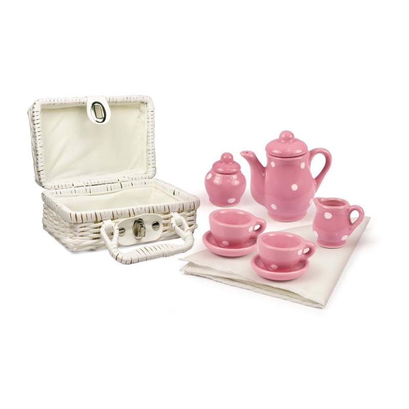 Magni Legetøj Tesæt i porcelæn Pink 1