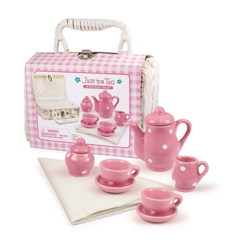 Magni Legetøj Tesæt i porcelæn Pink 2