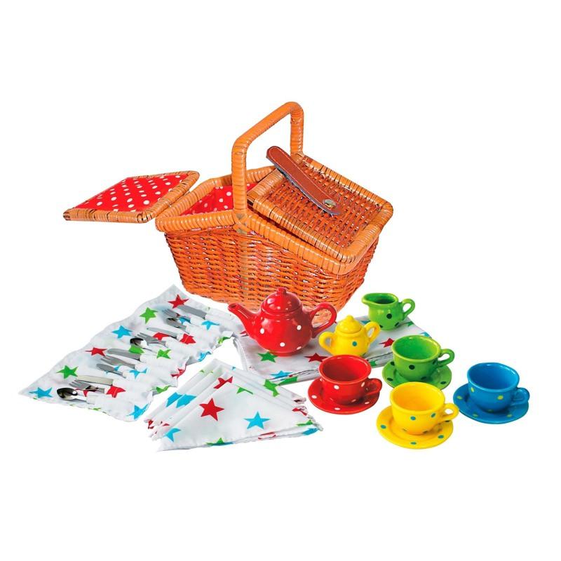 Magni legetøj Tesæt i picnickurv Multi 1