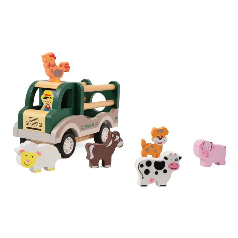 Magni Farm-Bil med dyr Grøn 1