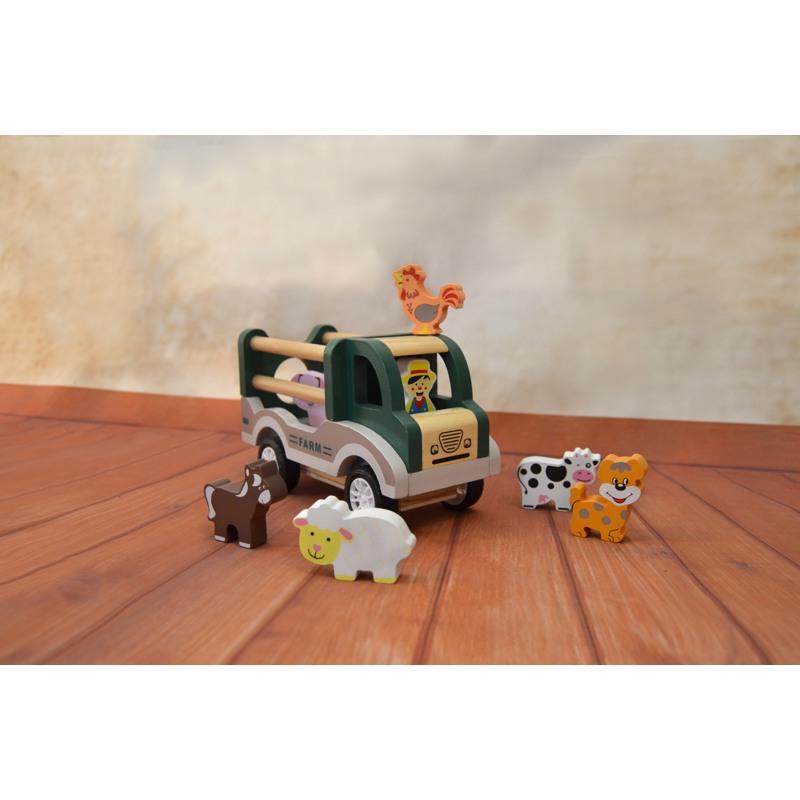 Magni Farm-Bil med dyr Grøn 2