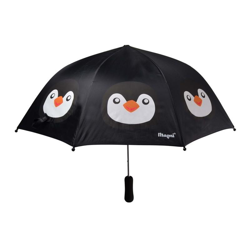 Magni Paraply - Pingvin  Sort 1