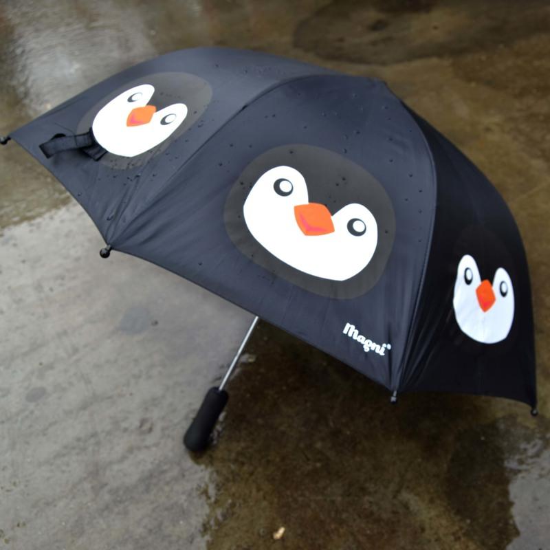 Magni Paraply - Pingvin  Sort 2
