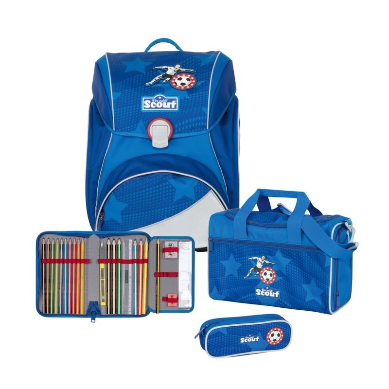 Scout Skoletaskesæt Alpha Fodbold Blå 1