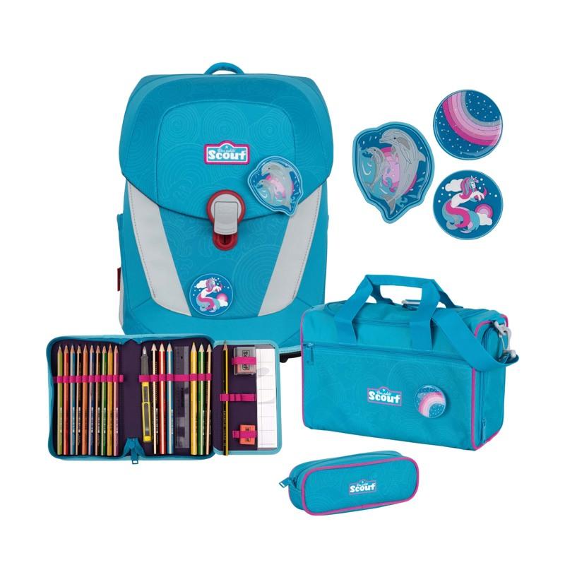 Scout Skoletaskesæt Sunny II Delfin Blå 1