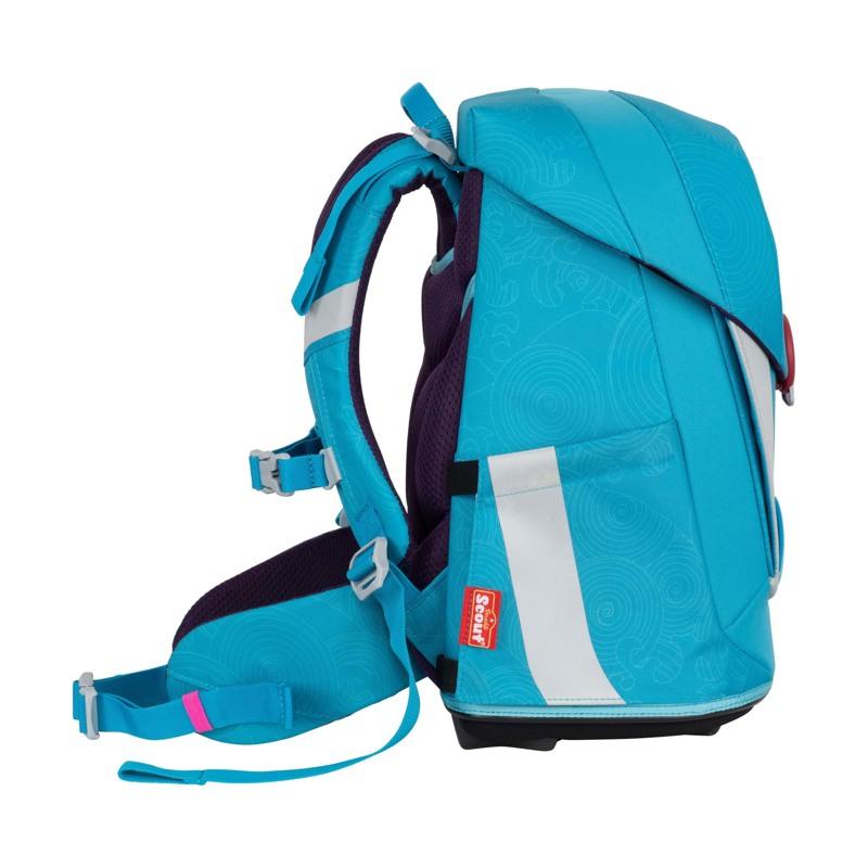 Scout Skoletaskesæt Sunny II Delfin Blå 3