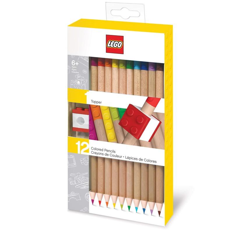 LEGO Farveblyanter m/visketop 12 st Ass farver 1