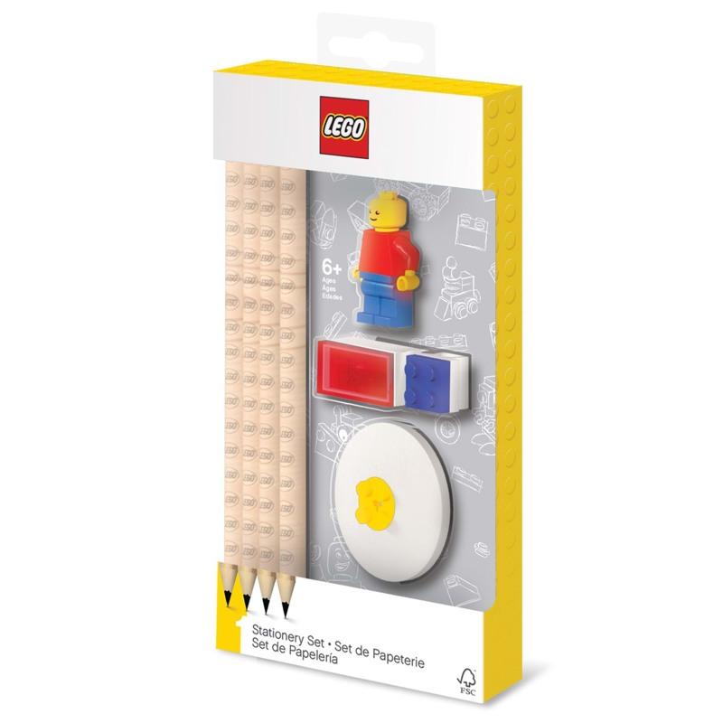 LEGO Skrivesæt m/mini figur Ass farver 1