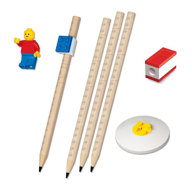 LEGO Skrivesæt m/mini figur Ass farver 2