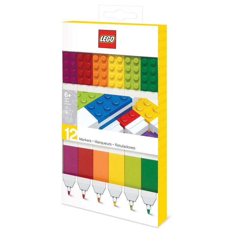 LEGO Marker 12 stk. Ass farver 1