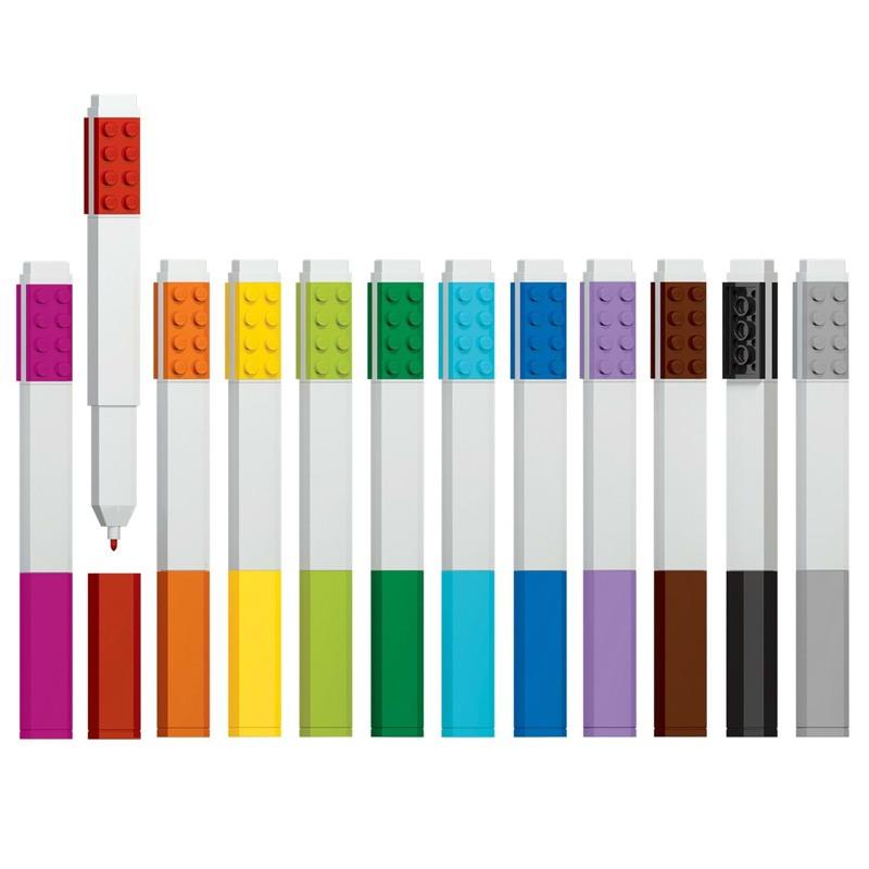 LEGO Marker 12 stk. Ass farver 2