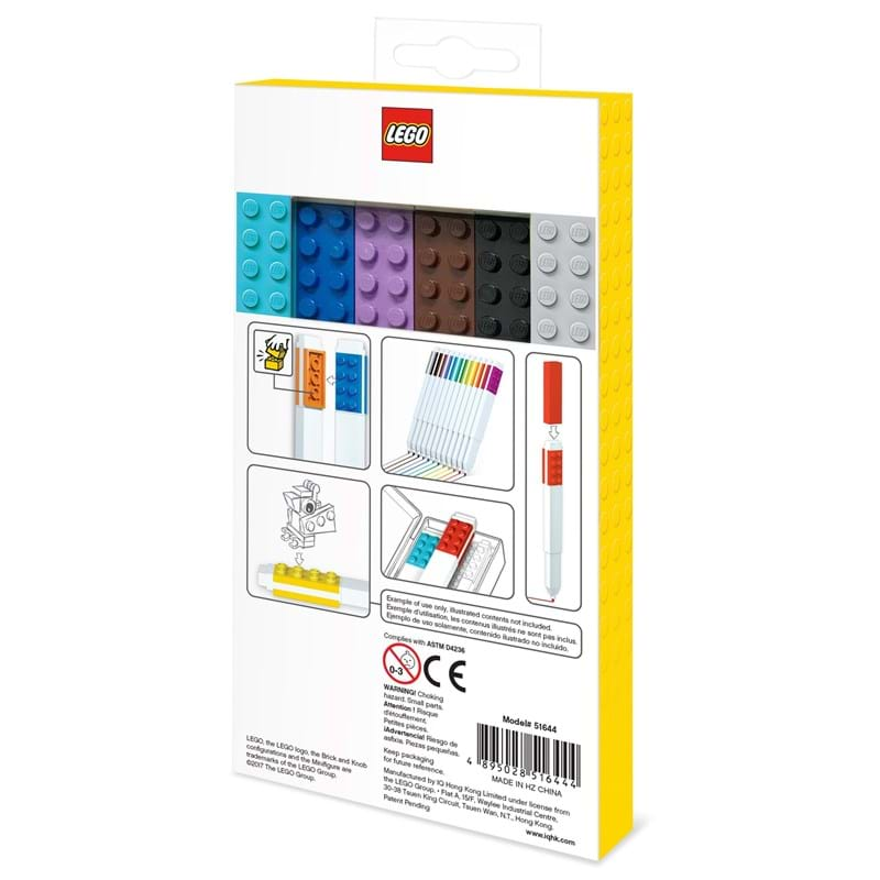 LEGO Marker 12 stk. Ass farver 3