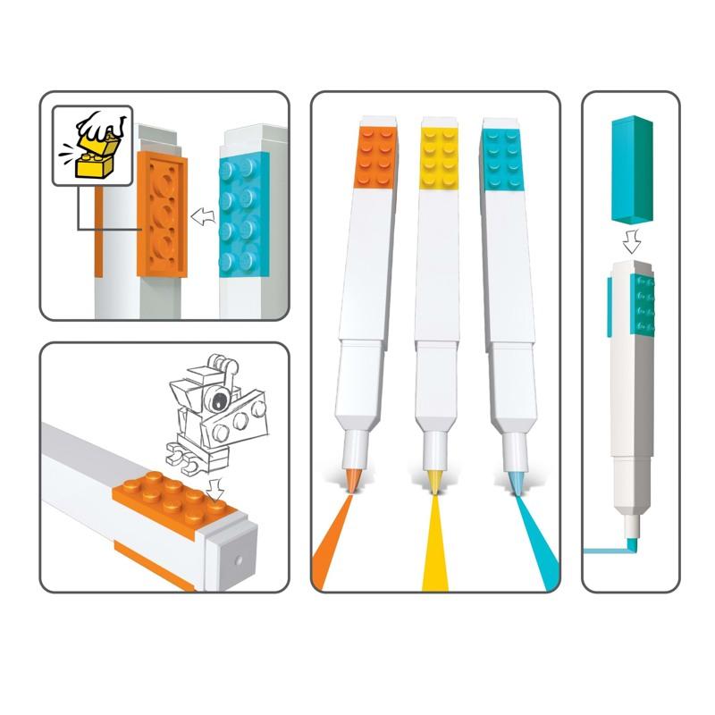 LEGO Overstregningstusser 3 stk. Ass farver 2