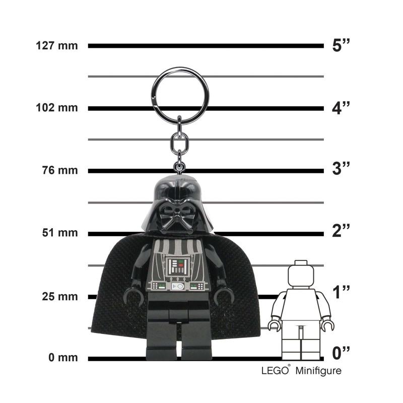 LEGO Nøglering med LED lys Darth Va Sort 3