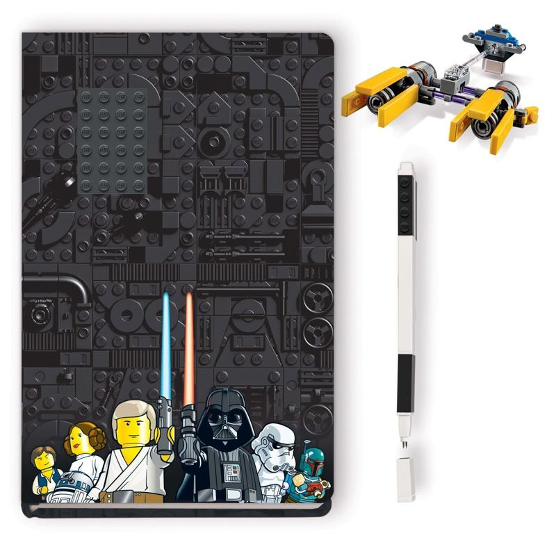 LEGO Notesbog med indhold Podracer Gul 2