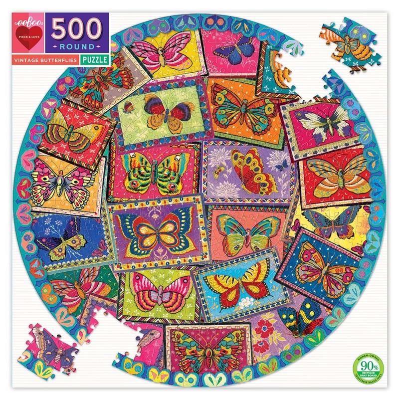eeBoo Pusleslpil Sommerfugle 500 Mønstret 1