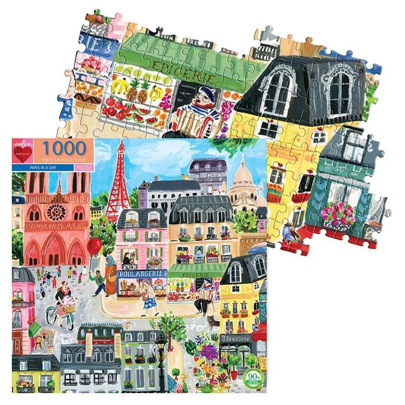 eeBoo Puslespil  Paris 1000 Mønstret 2