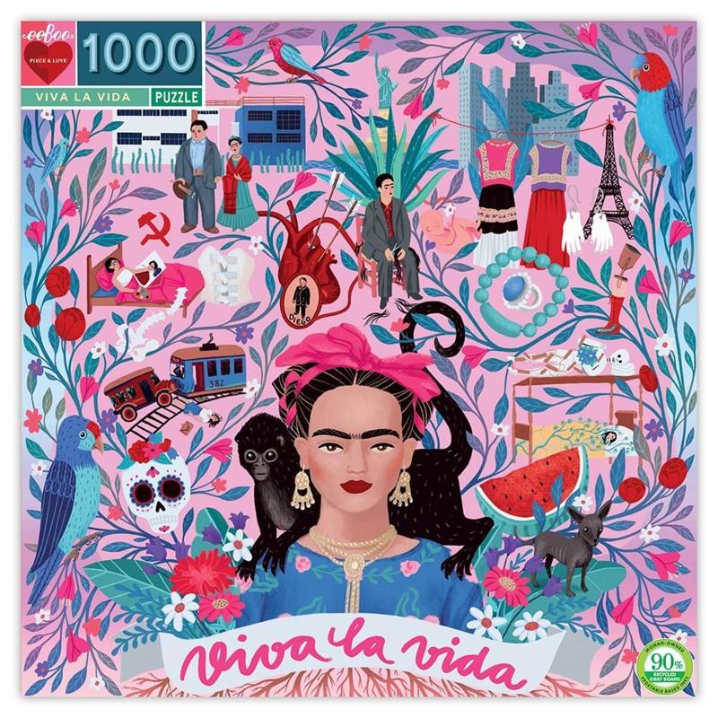 eeBoo Puslespil Viva la Vida 1000 Mønstret 1