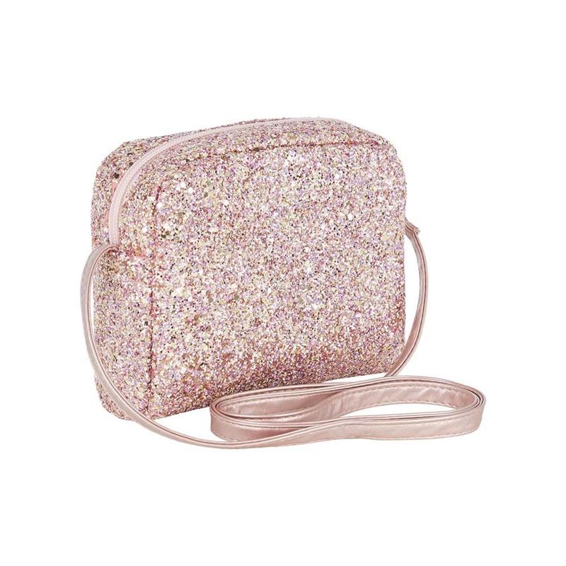 Mimi & Lula Skuldertaske glitter Pink 1