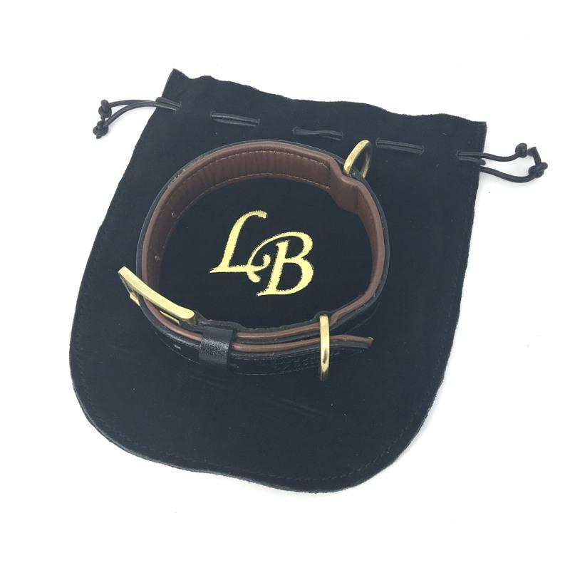 Leather by Beth Hundehalsbånd Citywalk Sort/Cognac 9